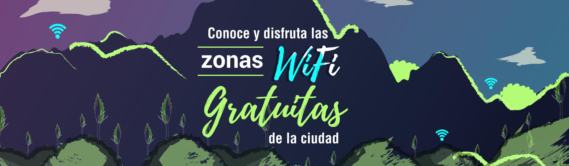 Zonas WIFI gratuitas de la ciudad
