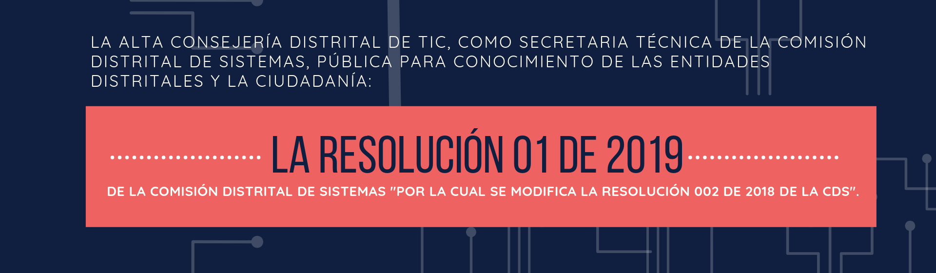 Resolución 01 de 2019