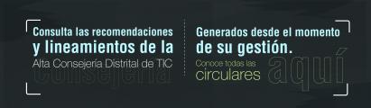 Lineamientos de la Alta Consejería Distrital de TIC