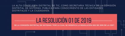 Resolución 01 de 2019