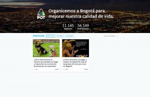 Screen Shot de pagina de Bogota Abierta