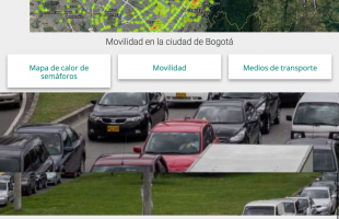 Imagen de captura de pantalla de aplicación web Movilidad Bogota