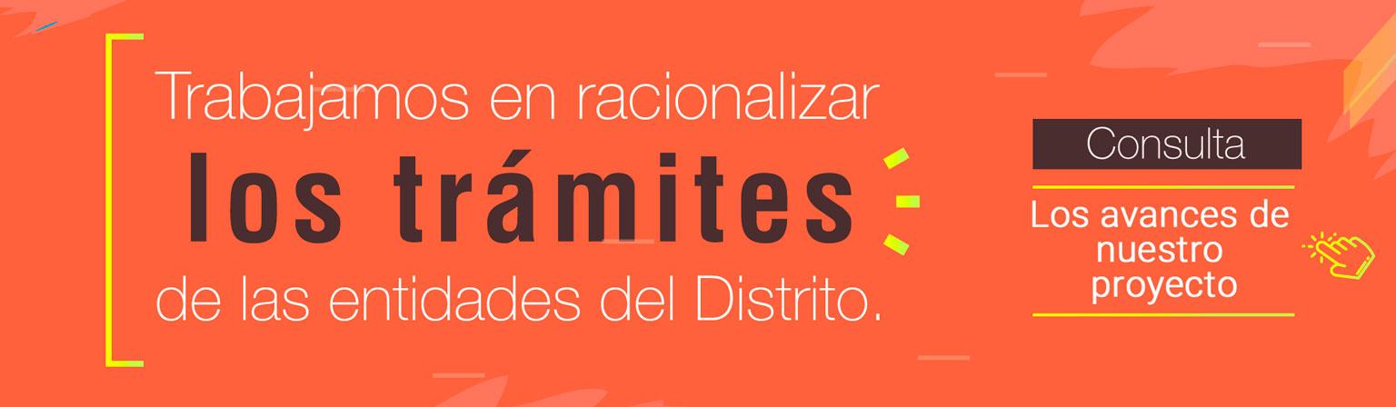 Banner tramites de las entidades del distrito